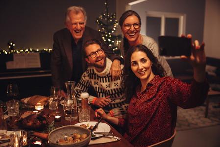 Family selfie on thanksgiving