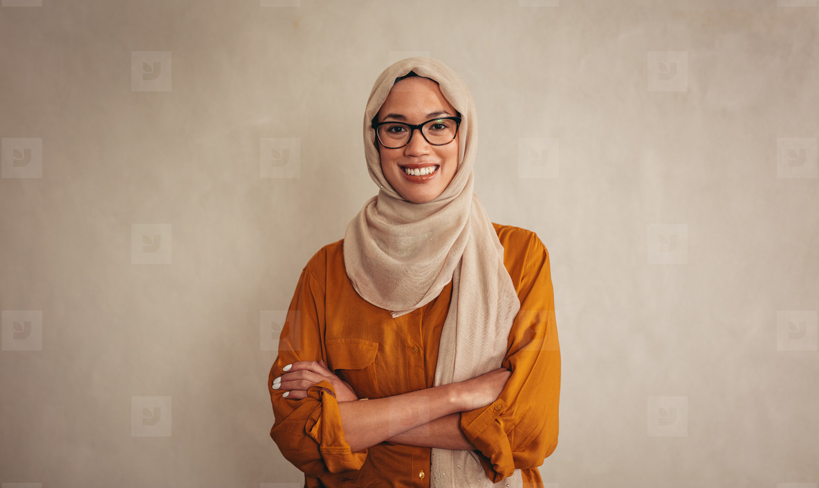 Confident muslim businesswoman