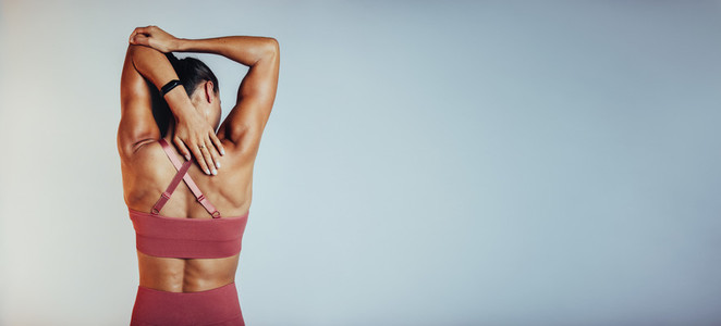 Fitness woman doing warm up exercise