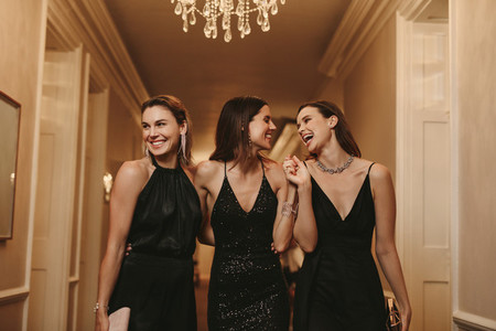 Group of females at a gala night