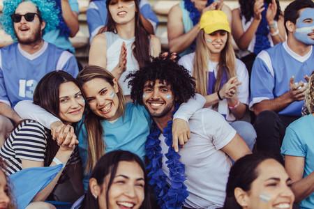 Argentinian soccer fans at stadium
