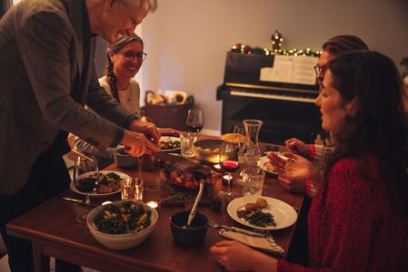 Christmas dinner at scandinavian home