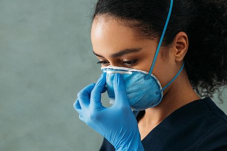 Close up of young medical nurse