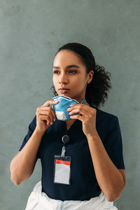 Portrait of female medical