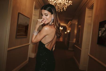 Pretty woman at gala night