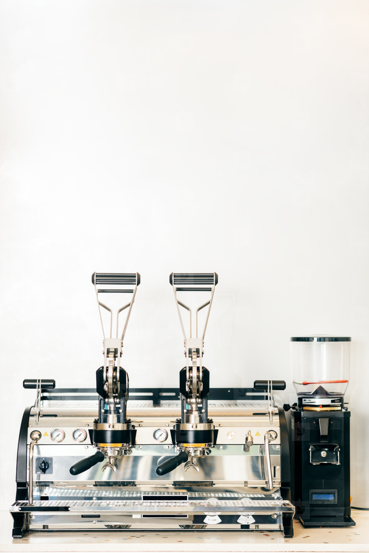 A vintage coffee machine