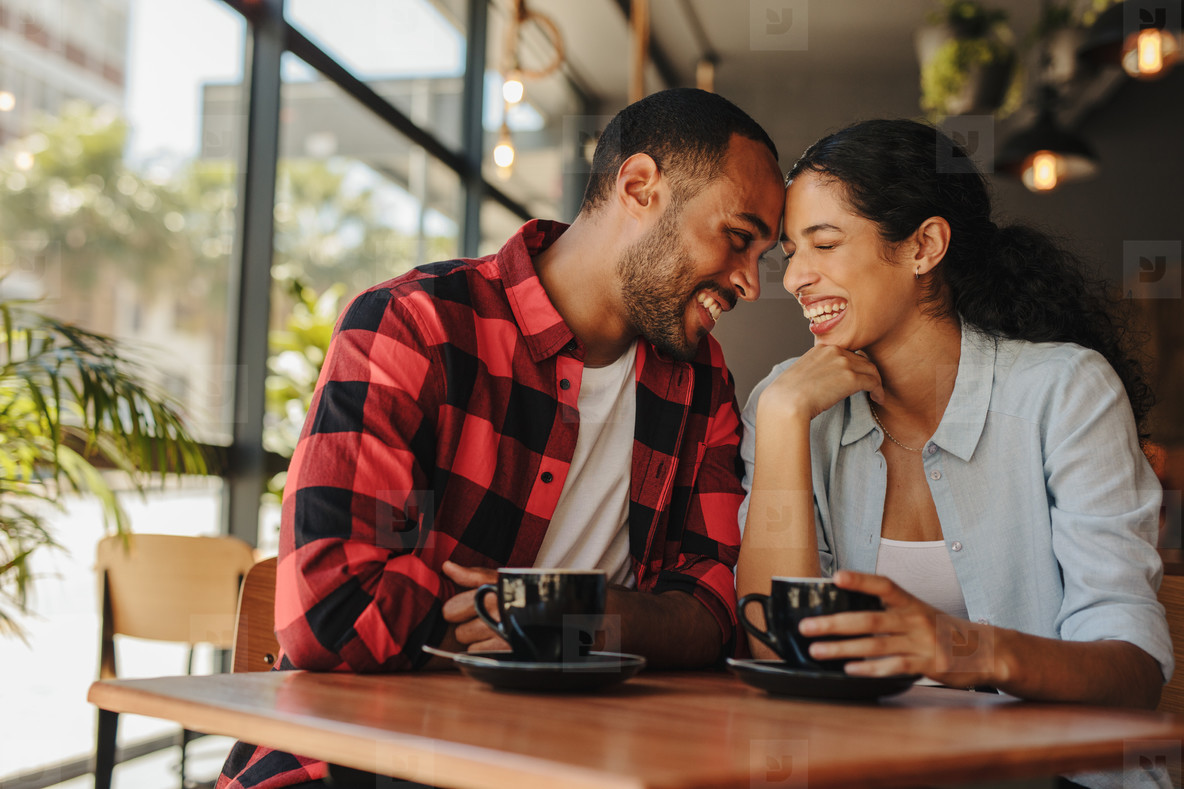 Loving couple enjoying their date