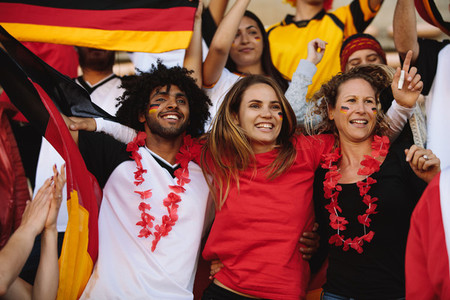 German soccer team supporters in fan zone