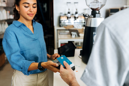Female coffee shop owner