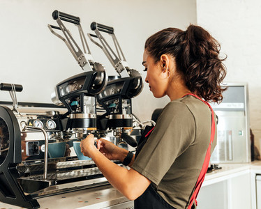 Female barista