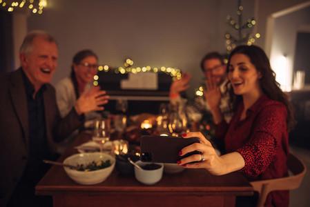 Online christmas celebration at home