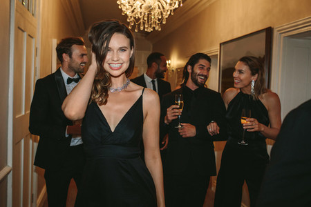 Attractive woman at a gala event