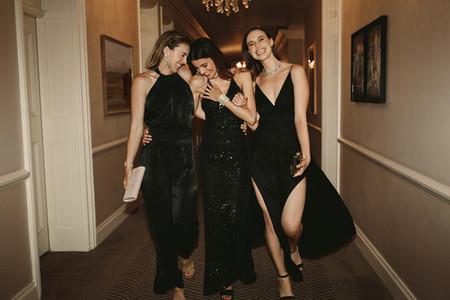 Beautiful women at gala night party