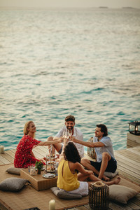 Luxury holiday with friends