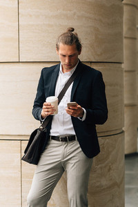 Handsome man with coffee