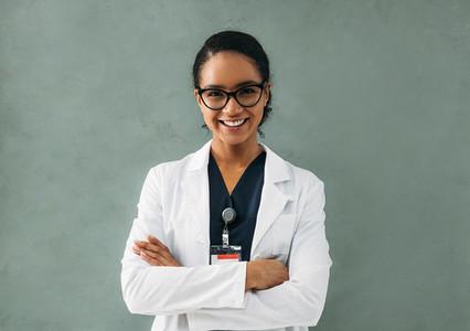 Portrait of smiling female nurse