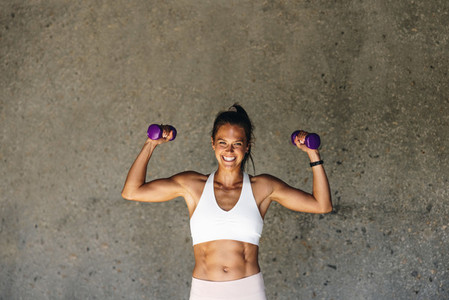Strong fit woman