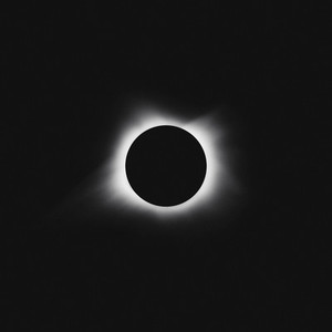 Solar eclipse on black background