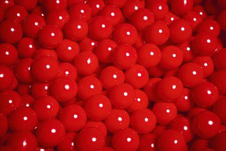 Vibrant red plastic balls