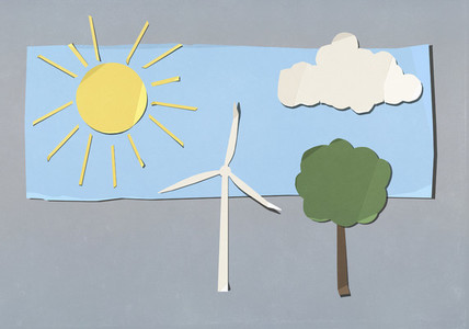 Environment and wind turbine cut out symbols