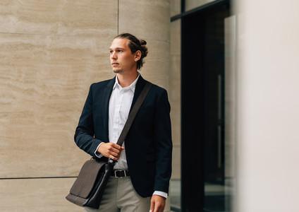 Entrepreneur with crossbody bag