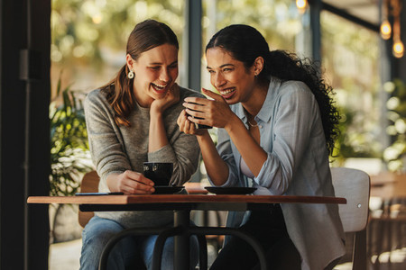 Women meeting up for coffee