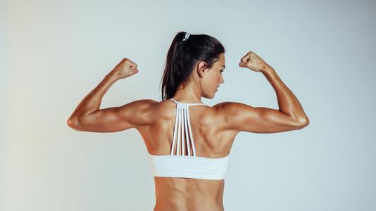 Portrait of muscular fitness woman