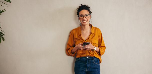 Smiling portrait of a female entrepreneur