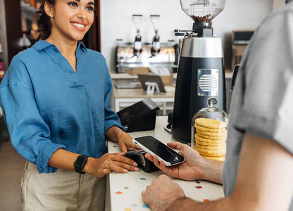 Customer paying bill