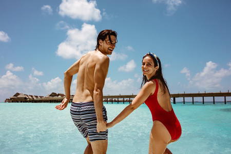 Honeymoon vacation on a tropical island