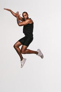 Basket ball athlete doing fitness exercise