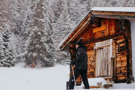 Snowshoeing  Crans Montana  Switzerland