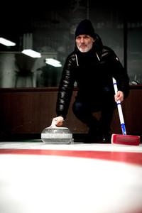 Curling Sport  Crans Montana  Switzerland