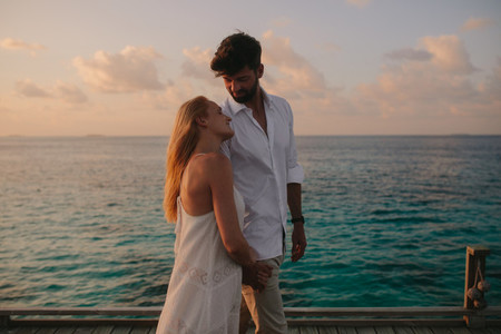 Romantic moments on a holiday