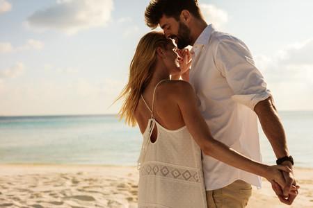 Romantic couple on a beach holiday