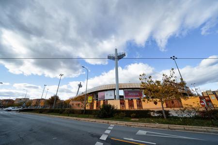 GRANADA  ANDALUSIA  SPAIN  5 DECEMBER 2020  Nuevo los Carmenes stadium of Granada Club de Futbol on a cloudy day