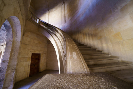 Staircase in the Palace of Carlos V in the Alhambra in Granada