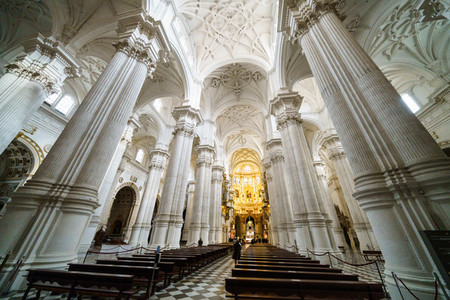Granada  Spain  December 13th 2020  Main Cathedral interior