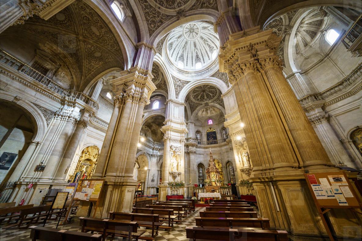 Granada  Spain  December 13th 2020  Interior of the Sagrario Church of the Cathedral of Granada