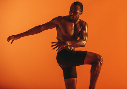 Close up of athlete doing fitness workout