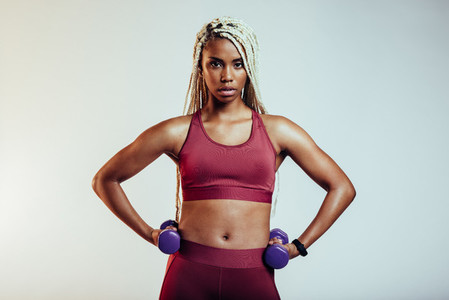 Portrait of african american fitness woman