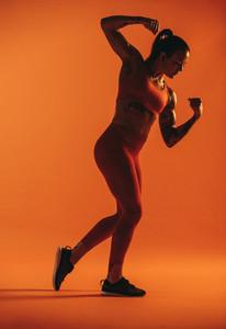 Portrait of a female bodybuilder