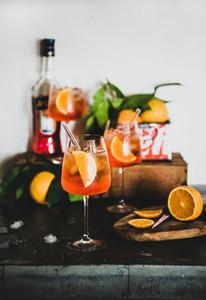 Turkey  Alanya   July 13  2019 Aperol Spritz aperitif alcohol cold drink