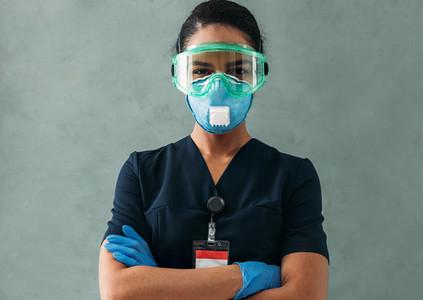 Portrait of a nurse wearing a medical uniform