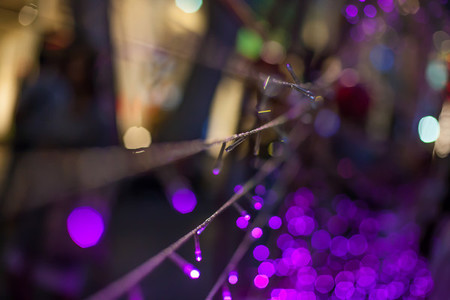 Background festival lighting in Thailand