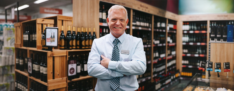 Successful owner of a wine store