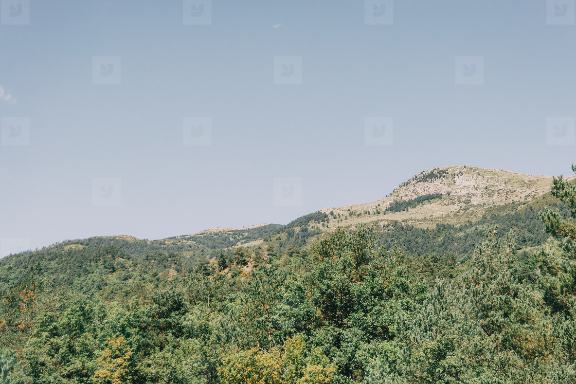 Landscape of the mountains  in Spain  A sunny summer day