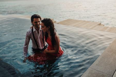 Romantic holiday at a sea resort