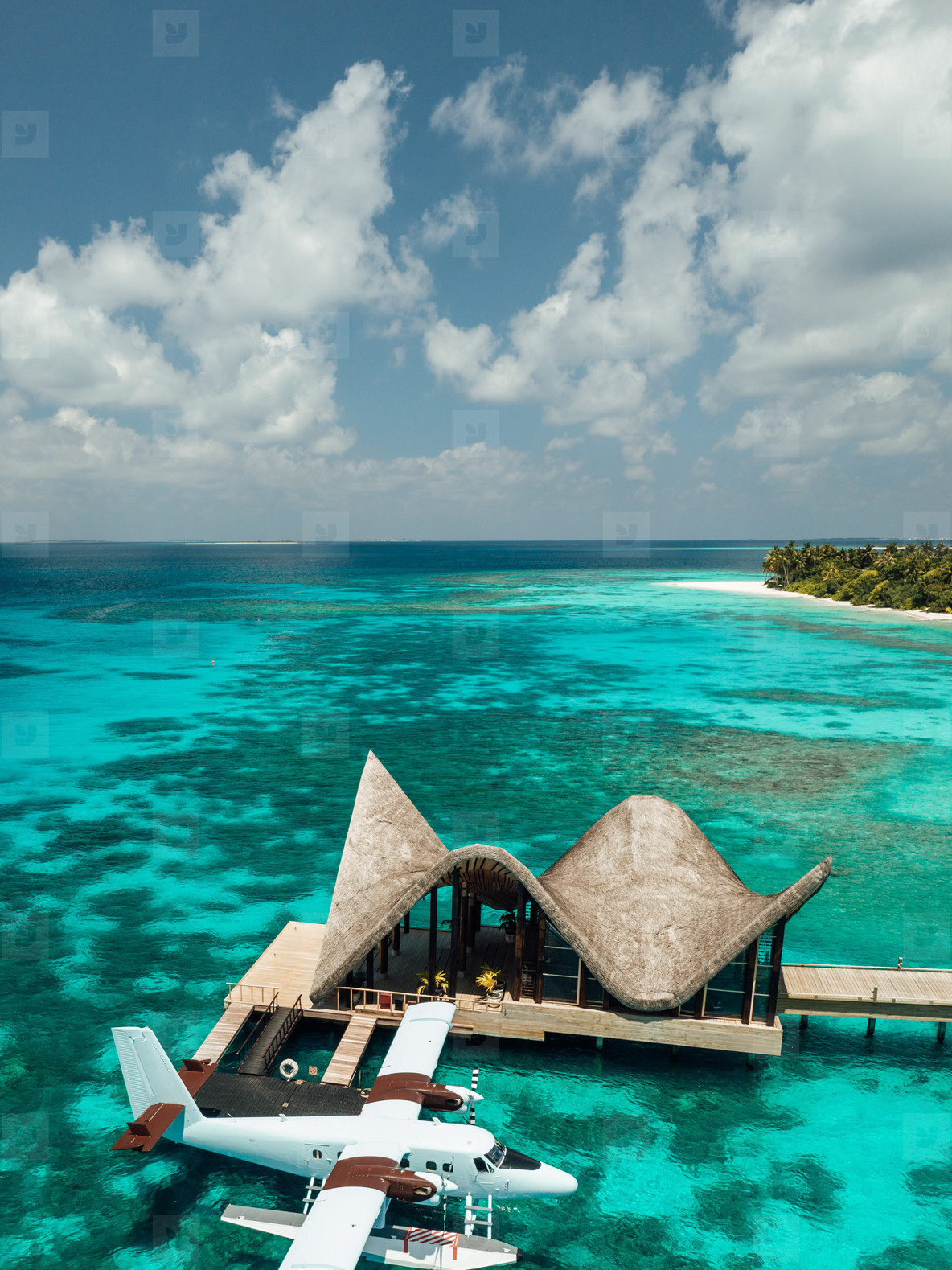Luxury tourist destination on a tropical island