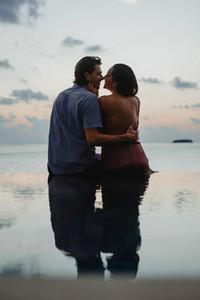Romantic holiday at the sea